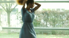 Woman dancing in celebration Stock Footage