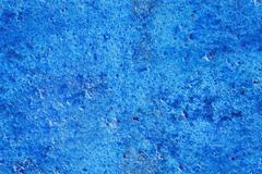 Seamless blue concrete, plaster, stucco, grunge texture and background - stock illustration