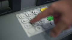 Using atm keypad - stock footage
