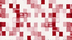 Mosaic Red Squares On White Moving Background Stock Footage