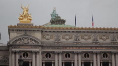 Palais Garnier, Paris, France Stock Footage