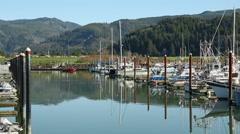 Garibaldi Marina, Oregon Stock Footage