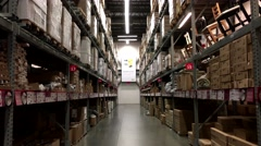 IKEA store for customer pick up furniture storage place Stock Footage