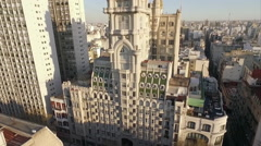 Stately Palacio Barolo amidst sprawling Buenos Aires, Argentina Stock Footage