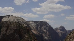 Mountains in Zion National Park, Utah, USA Stock Footage