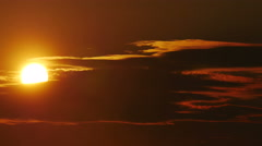The Big Sun Behind The Clouds Stock Footage