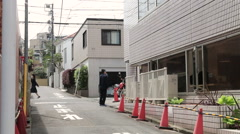 Calm Shibuya Street Scene Stock Footage
