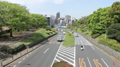 Traffic through Yoyogi Park Stock Footage