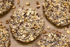 Vegan Oatmeal and Banana Cookies - stock photo
