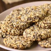 Vegan Oatmeal and Banana Cookies Stock Photos