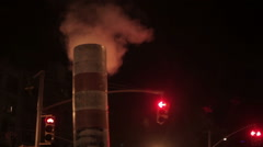 New York Steam Pipe Stock Footage
