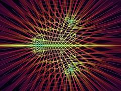 Digital Grid Lines - stock illustration