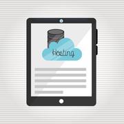 web hosting design - stock illustration