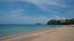 Phuket, Thailand. Kata Noi Beach In The Morning. Time Lapse Stock Footage