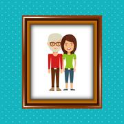 Parent picture  design Stock Illustration