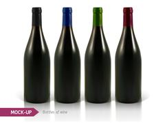 Bottles of white and red wine Stock Illustration