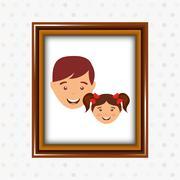parent picture  design - stock illustration