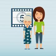 filmed entertainment design - stock illustration