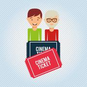 filmed entertainment design - stock illustration