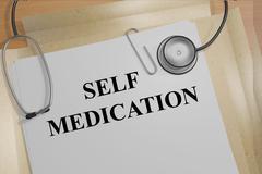 Self Medication medicial concept Stock Illustration