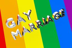 GAY MARRIAGE pride concept Stock Illustration