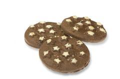 Cookies over white - stock photo