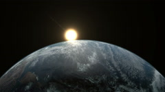 Earth sunrise from space. - stock footage