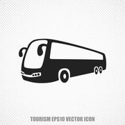 Travel vector Bus icon. Modern flat design Stock Illustration