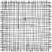 Grid made with grayscale bubble pattern over white Stock Illustration