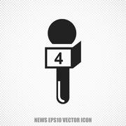 News vector Microphone icon. Modern flat design - stock illustration