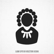 Law vector Judge icon. Modern flat design Piirros
