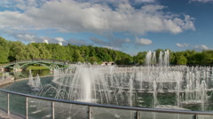 Fountain in the park Tsaritsyno in Moscow Stock Footage