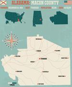 Macon County in Alabama USA - stock illustration