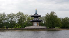 The Japanese pagoda in London Stock Footage
