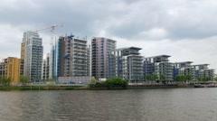Real estate development in West London Stock Footage