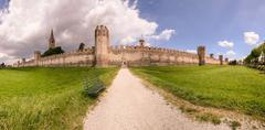 City wall of Montagnana, Italy Stock Photos