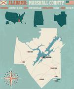 Marshall County in Alabama USA Stock Illustration