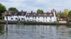 An old riverside pub Stock Footage