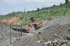 Iron ore opencast Stock Photos