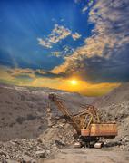 Iron ore opencast - stock photo