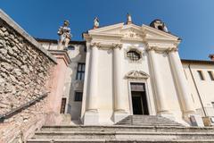 Church of the Madonna del Carmine in Marostica, Italy. - stock photo