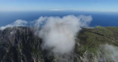 EPIC CINEMATIC REVERSE TILT SHOT OF SCENIC CLOUDS AND CAPRI LANDSCAPE Stock Footage