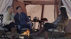 Camping - stock footage