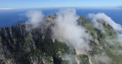 BEAUTIFUL ROLLING CLOUDS OVER STEEP ROCK CLIFFS IN CAPRI ITALY Stock Footage