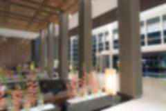 Abstract blur interior hotel lobby background - stock photo