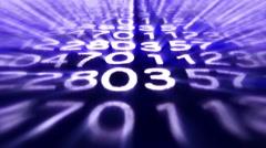 Random Numbers Technology Code Carpet Background, Loop, 4k Stock Footage