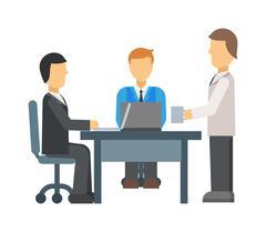 Business meeting vector illustration - stock illustration