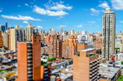 View of Upper East Side, New York. Tilt-shift effect applied Stock Photos