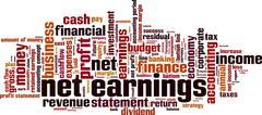 Net earnings word cloud Stock Illustration