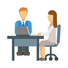 Interview vector illustration Stock Illustration